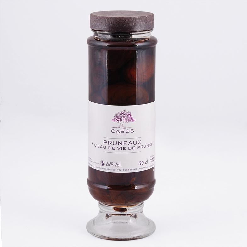 bocal pruneaux à l'eau de vie artisanal