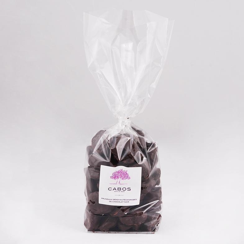 pruneaux dénoyautés au chocolat noir en grand sachet